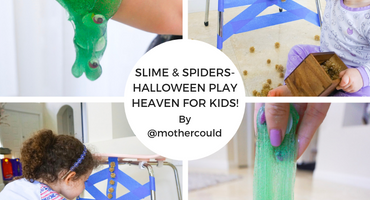 Slime and Spiders- Halloween Play Heaven for Kids!