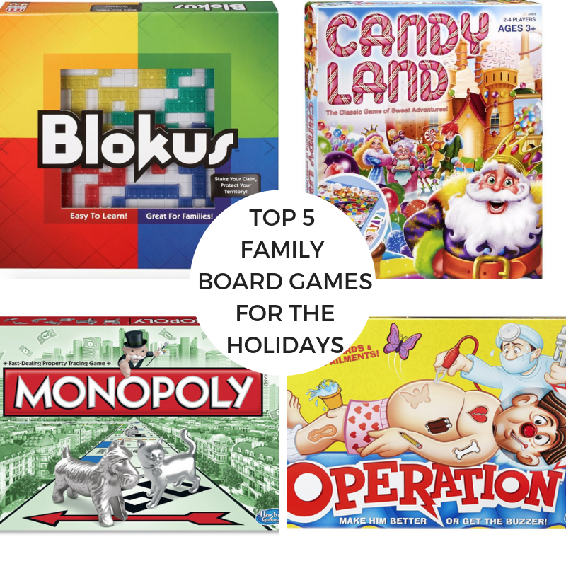 Top 5 Family Board Games for the Holidays