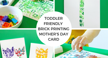 Toddler Friendly Brick Printing Mother's Day Card