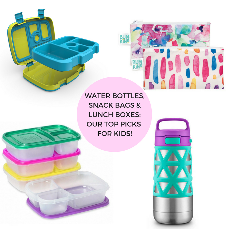 Water Bottles, Snack Bags & Lunch Boxes: Our Top Picks for Kids!