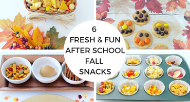 6 Fresh & Fun After School Fall Snacks