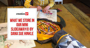 What We Store in Our Mini SlideAway® by Dana Sue Hinkle