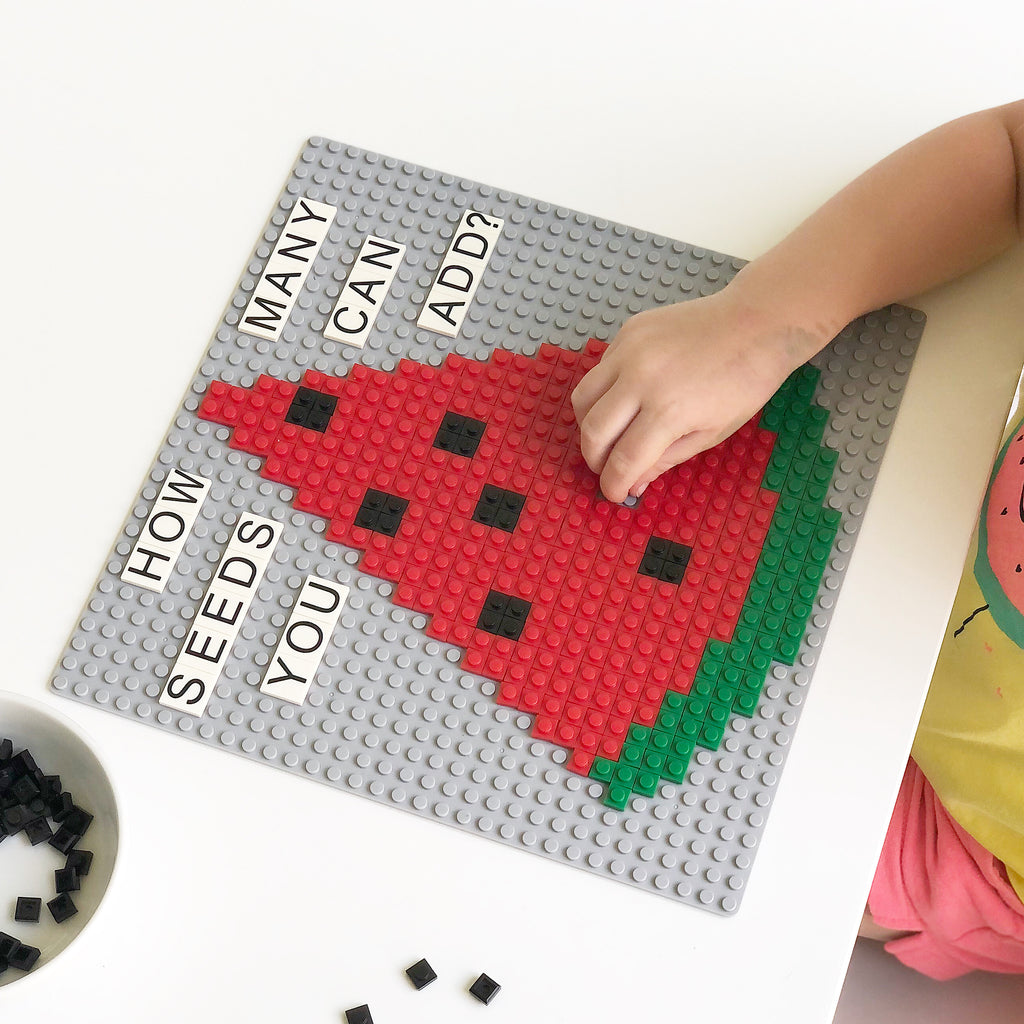 Toddler Invitations to Create with Pixel Bricks