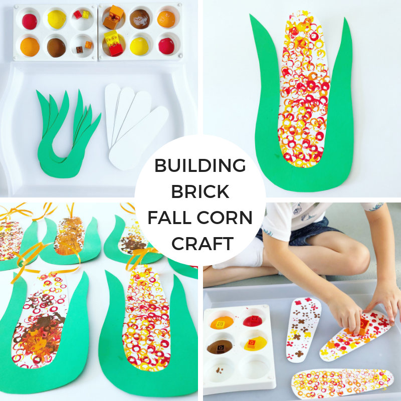 Building Brick Fall Corn Craft
