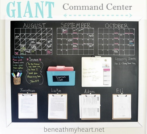Pinterest Round-up: Family Command Center Ideas