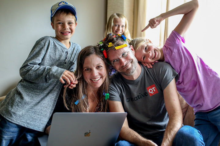 Adam and Dana Sue Hinkle, the founders of Creative QT, and their family