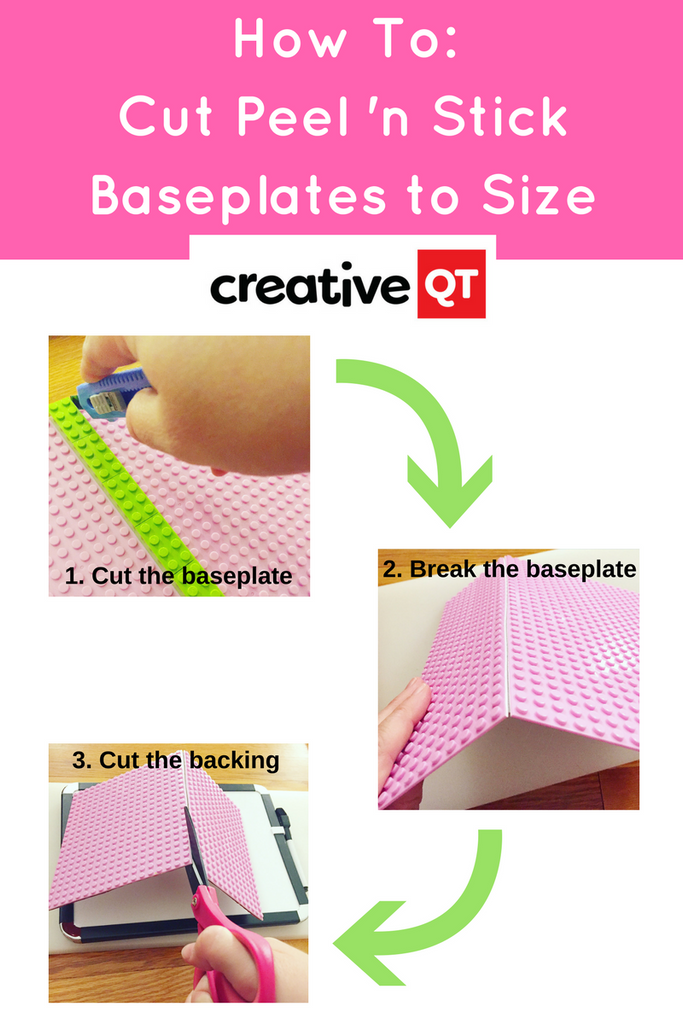 How To Cut Peel 'n Stick Baseplates to Size