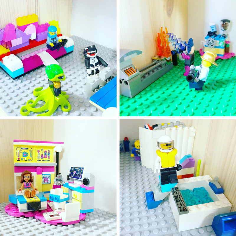 DIY LEGO Compatible Dollhouse