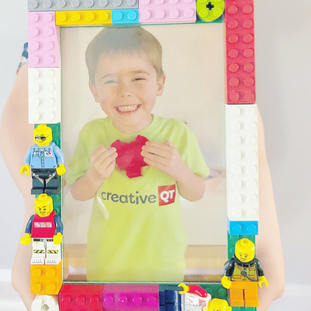 DIY Building Brick Picture Frames