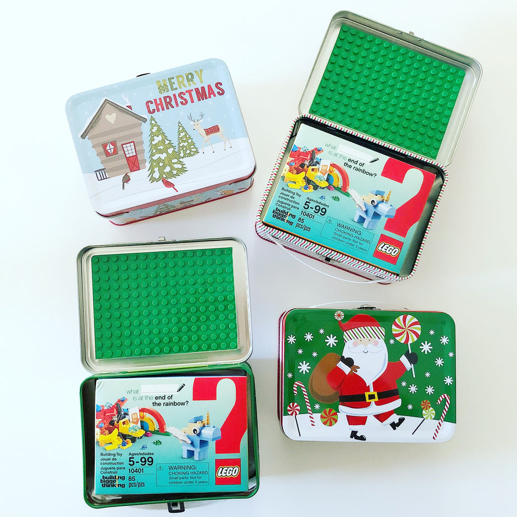 Holiday Brick Tin Dollar Store Hack