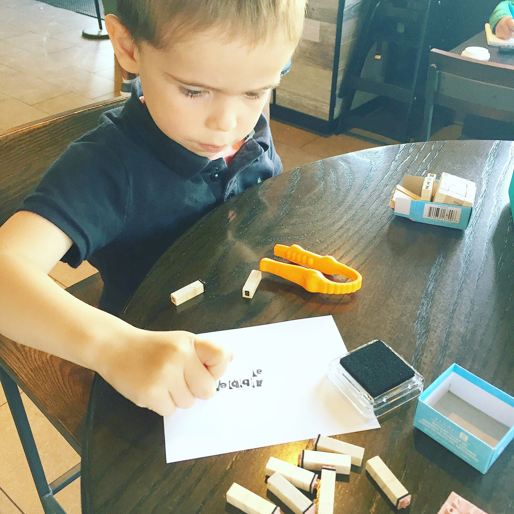 Staying Screen Free: Letters Activity Box