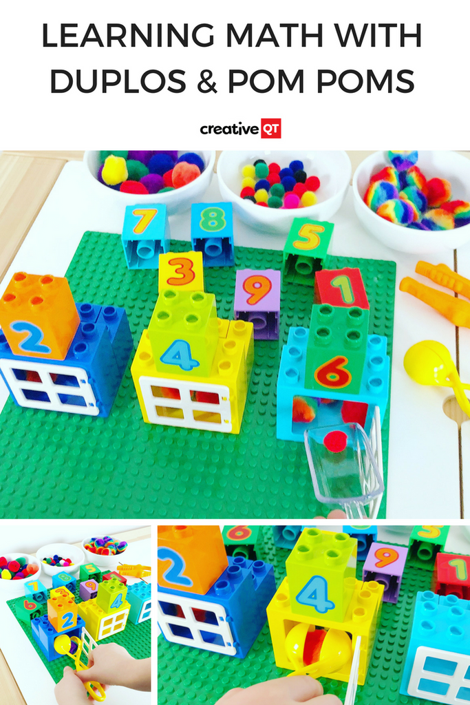 Learning Math with DUPLOs & Pom Poms