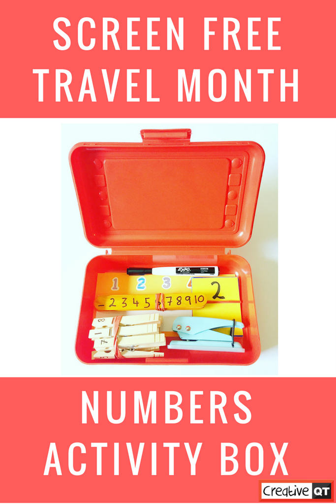 Staying Screen Free: Numbers Activity Box