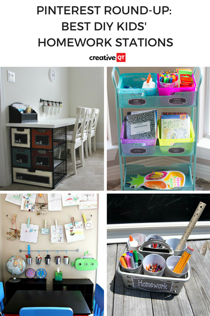 Pinterest Round-up: Best DIY Kids' Homework Stations