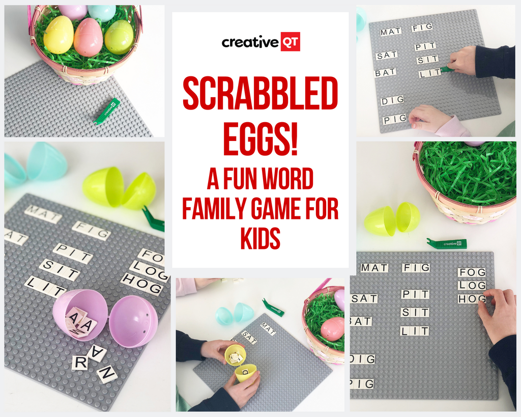 'Scrabbled Eggs' - A Fun Word Family Activity for Kids