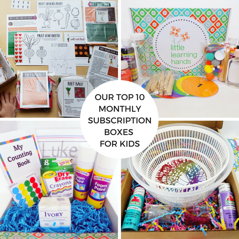 Our Top 10 Monthly Subscription Boxes for Kids
