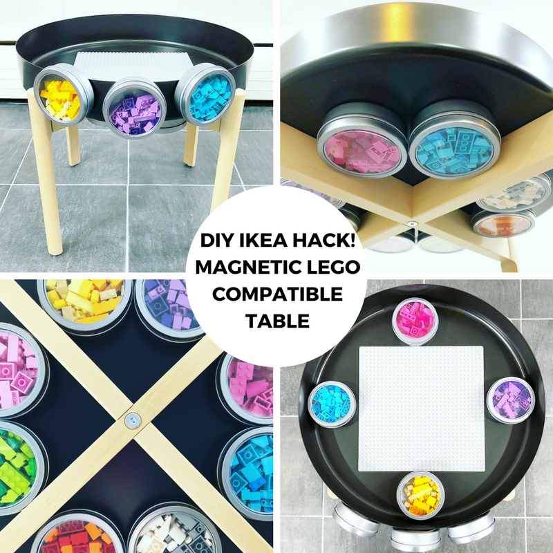 DIY IKEA HACK! Magnetic LEGO Compatible Table