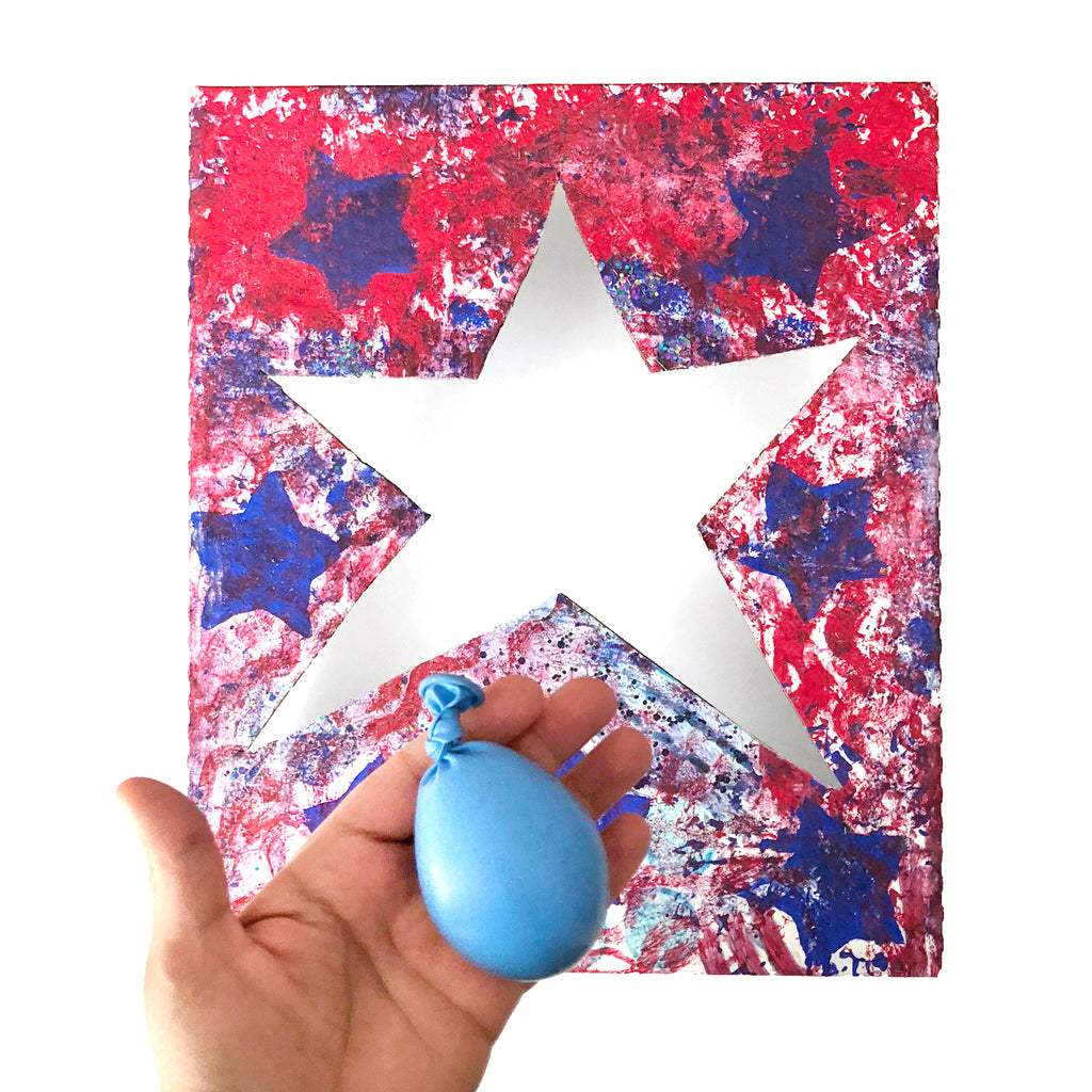 DIY 4th of July Ball Toss Game