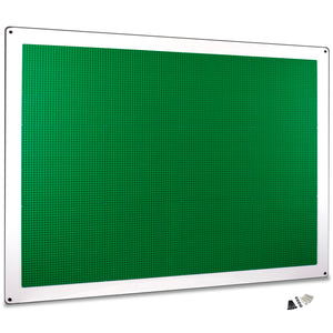 PlayUp Wall,  XL Building Brick Play Wall  - Green - 34 inch x 44 inch