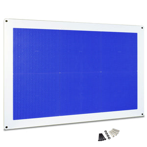 PlayUp Wall,  Building Brick Play Wall  - Blue - 24 inch x 34 inch