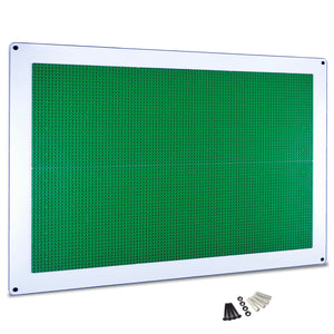 PlayUp Wall,  Building Brick Play Wall  - Green - 24 inch x 34 inch