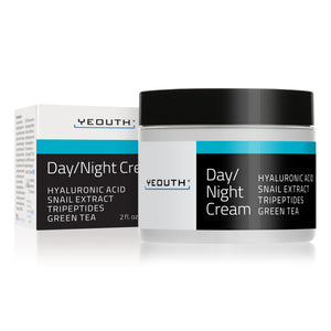 Day/Night Moisturizer with Snail Extract, Hyaluronic Acid, Green Tea, & Peptides