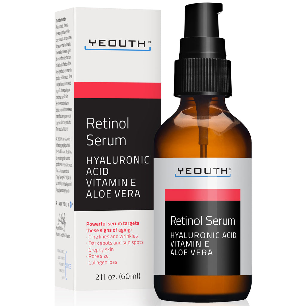 Retinol 2.5% Serum with Hyaluronic Acid, Vitamin E and Aloe Vera