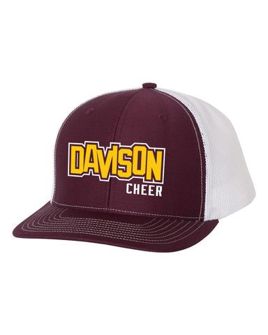 Davison Cheer Embroidery Snap Back Hat