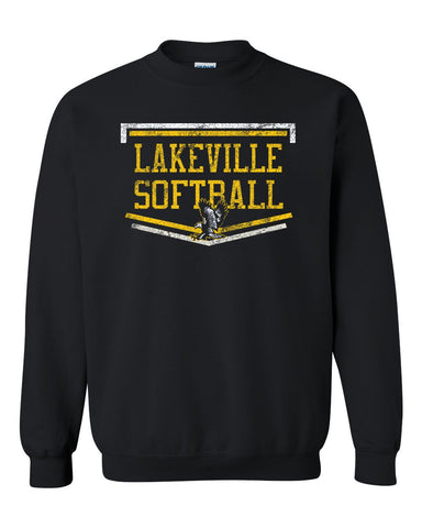 Lakeville Softball Basic Black Crew Sweatshirt