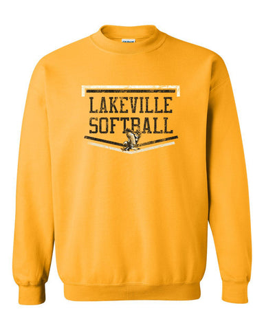 Lakeville Softball Basic Gold Crew Sweatshirt
