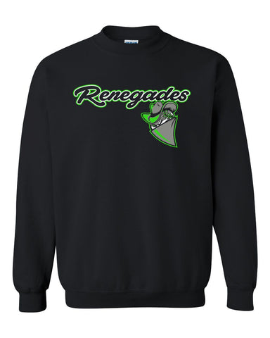Black Renegades Basic Crew Sweatshirt
