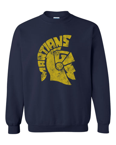 Navy Martians Basic Crew Sweatshirt