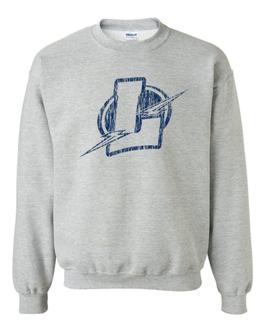 Lapeer Distressed Basic Crew Sweatshirt