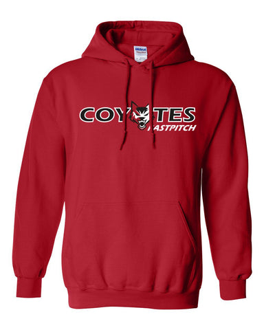 Coyotes Fastpitch Basic Red Hooded Sweatshirt