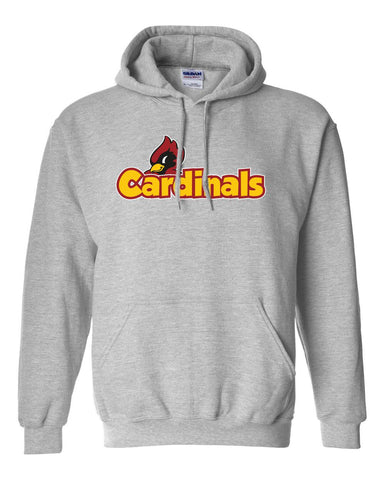 Cardinals Cartoon Youth Hooded Sweatshirt