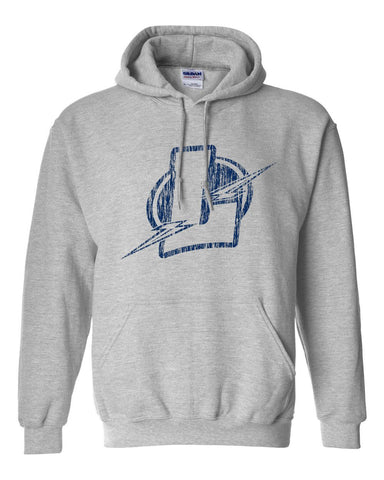 Lapeer Distressed Basic Hooded Sweatshirt