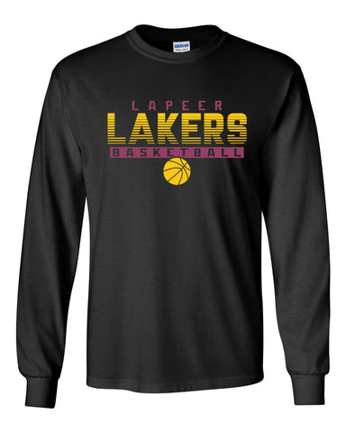 Lapeer Lakers Basketball Long Sleeve (Black)