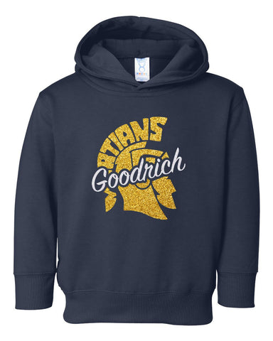 Navy Toddler Glitter Hood