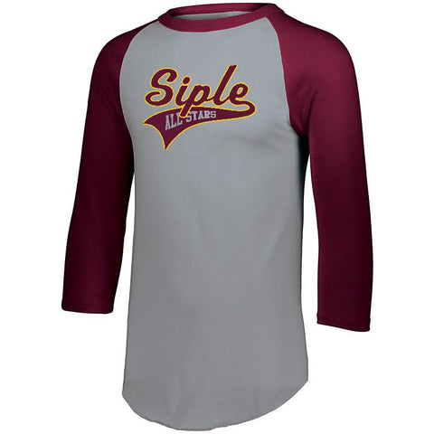 Siple All Stars 2 Color Raglan 3/4 Sleeve
