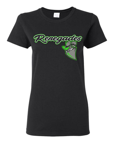 Ladies Black Renegades Basic T-shirt