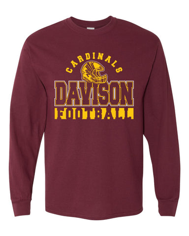 Maroon Davison Softball Basic Long Sleeve Shirt