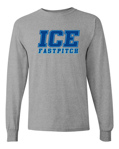 Ice Fastpitch Basic Grey Long Sleeve