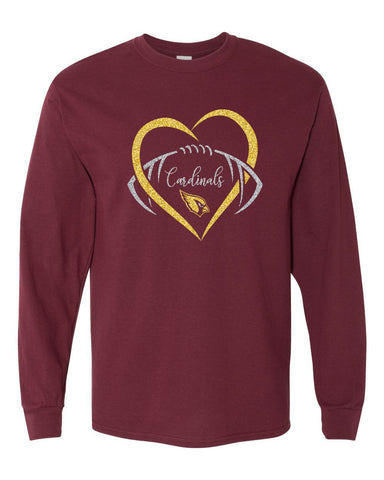 Davison Football Glitter Long Sleeve