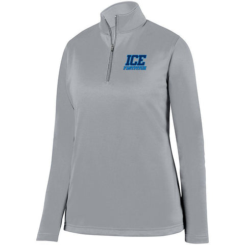 Ice Fastpitch Ladies 1/4 Wicking Fleece Pullover