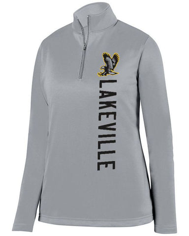 Grey Lakeville Falcons Ladies 1/4 Wicking Fleece Pullover