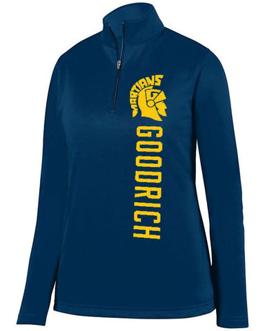 Navy Goodrich Martians Ladies 1/4 Wicking Fleece Pullover
