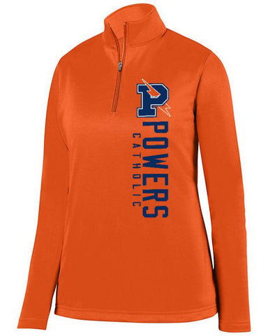 Orange Powers Catholic Ladies 1/4 Wicking Fleece Pullover