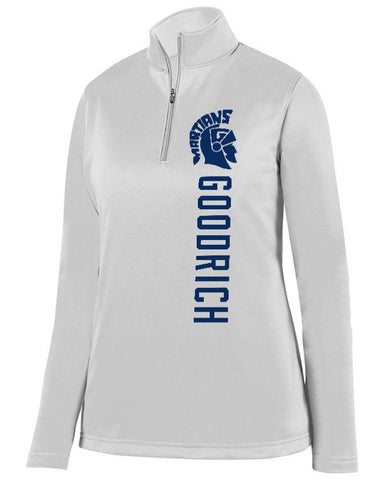 White Goodrich Martians Ladies 1/4 Wicking Fleece Pullover