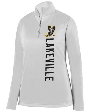 White Lakeville Falcons Ladies 1/4 Wicking Fleece Pullover