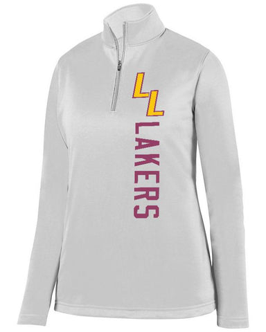 White Lapeer Lakers Ladies 1/4 Wicking Fleece Pullover